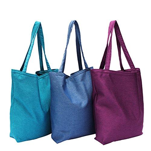 Tasche Schultertasche Reise Shopping Bag, abgefüttert - aus Webstoff Porto Farbe 01 - Cream 60 - Red
