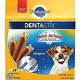 PEDIGREE DENTASTIX Small/Medium Dog Chew Treats, Original, 25 Treats