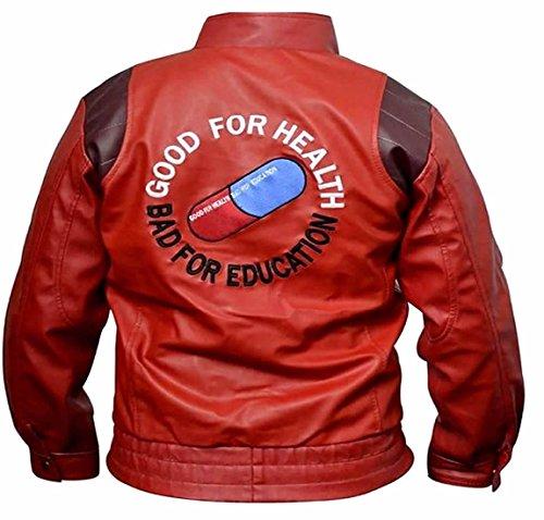 piel Akira classyak chaqueta de Rojo Sheep de Real moda Kaneda Hombres Red ScO8gct7