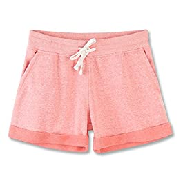 Women's Juniors Cotton Stretch Activewear Lounge Shorts