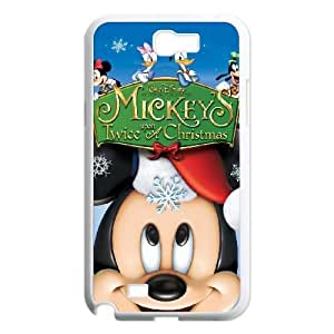 Samsung Galaxy Note 2 White phone case Disney Cartoon Mickey's Once Upon a Christmas EYB1350866