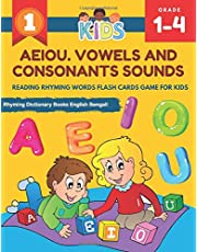 AEIOU. Vowels and Consonants Sounds Reading Rhyming Words Flash Cards Game for Kids Rhyming Dictionary Books English Bengali: Learning workbook to practice tracing, writing, read sentences rhyming words games with short and 5 long vowel set flashcards