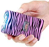 Monster Stun Gun Rechargeable Stun Gun with LED Flashlight, 18,000,000-Volt (Zebra Purple/Black)