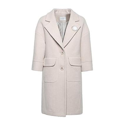 clothes Abrigo Largo de Lana para Mujer 2018, Abrigo de Lana Grueso de Invierno,