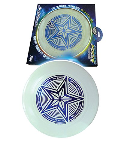 AIRGLOW Start Runner Flying Disc Glows in The Dark Weights 175 Grams The Ultimate Flying Disc Play Games Like Dodgeball Frisbee Flip Frisbee Bulk and Wholesale Gift