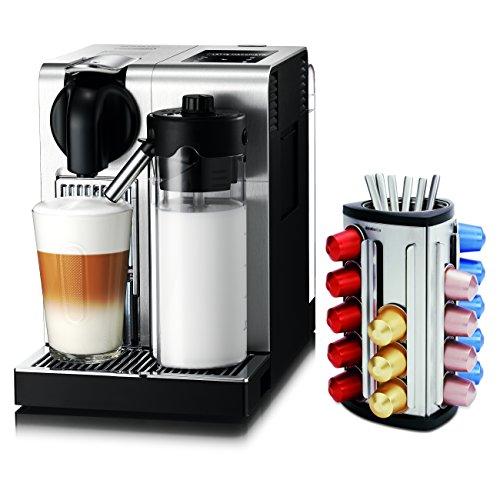 DeLonghi Lattissima Nespresso Pro Stainless Steel Capsule Espresso and Cappuccino Machine with Bonus 30 Capsule Carousel (Delonghi Lattissima Pro Nespresso)