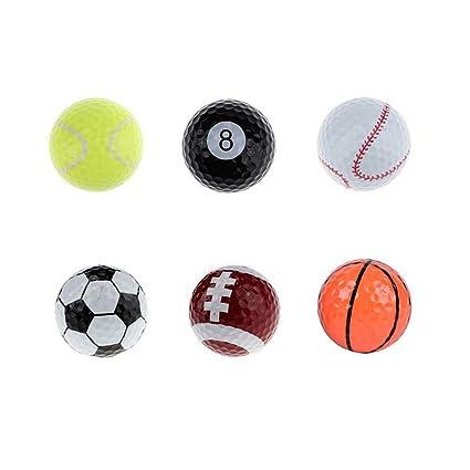 Amazon.com: WYF 6 pelotas de golf (baloncesto, fútbol ...