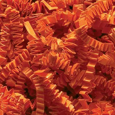 1/2 LB Crinkle Cut Paper Shred - Orange - Gift Basket Filling by Uline