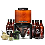 BrewDemon Craft Beer Kit Plus by Demon Brewing Company - NO SIPHON HOSE OR AIRLOCK REQUIRED Easy To Use Craft Beer Starter Kit With Reusable Conical Fermenter, Equipment and Ingredients - Make Wicked-