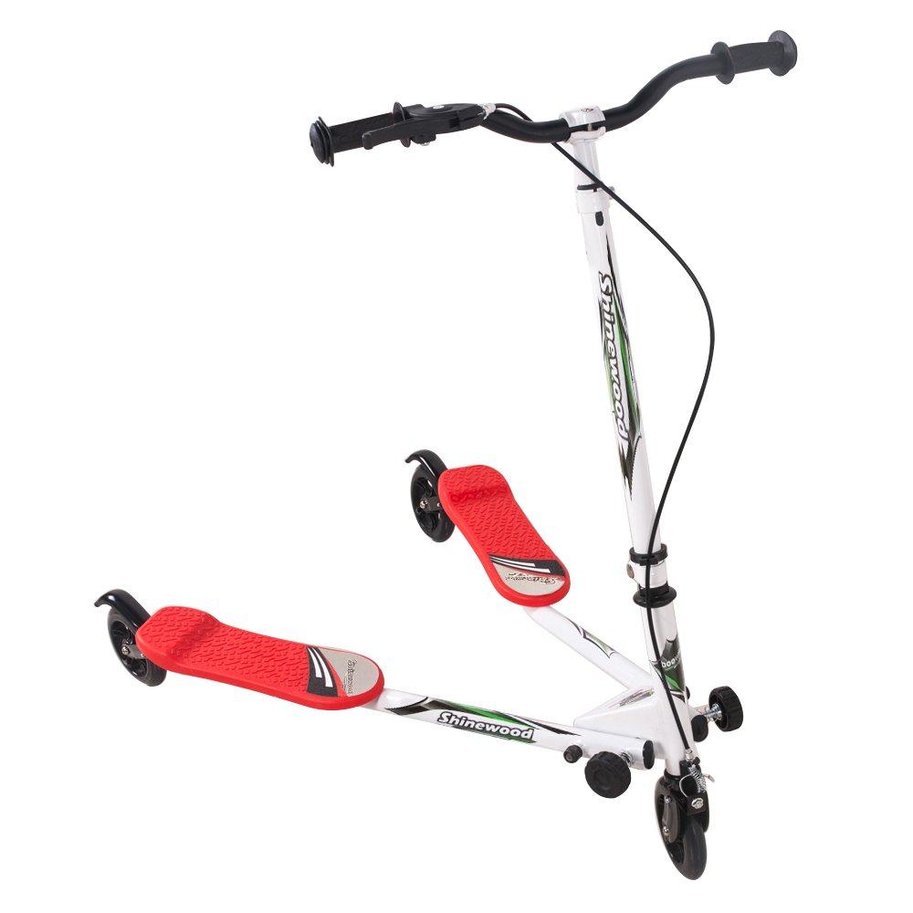 Rojo 3 ruedas para patinete Speeder Slider Swinged Push ...