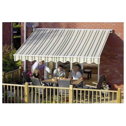 Greenhurst Easy Fit Awning 2.5 x 2m Ascot Green//Beige