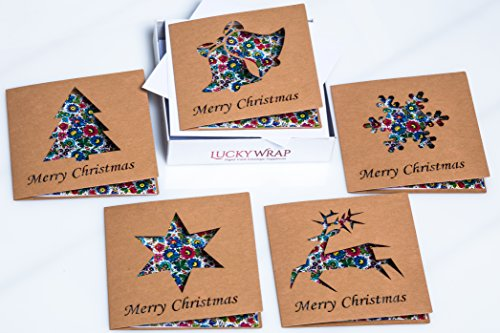 Christmas Greeting Cards With White Envelopes - Unique Greeting Cards In Ukrainian Style Including Ancient Paintings - 10 Cards In The Box Set