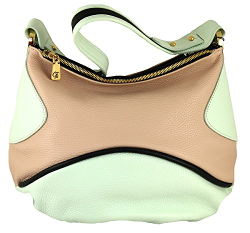 Gilda Tonelli Tasche Henkeltasche Shopper Hobo Bag Leder 7195 Puder-Mint