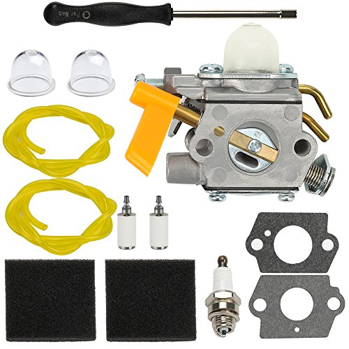 Dalom C1U-H60 Carburetor w Tune Up Kit Air Filter for Ryobi Homelite 25cc 30cc String Trimmer Brushcutter 985624001 308054003 985308001 3074504