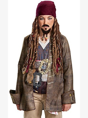 Halloween Facial Hair - Disney POTC5 Jack Sparrow Goatee & Mustache - Child,  Multicolor,  One Size