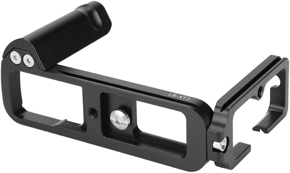 Aluminium Alloy Camera L Bracket with Spanner Durable Quick Release QR L-Shaped Camera Bracket Vertical Grip for Fu ji XT3 Cameras