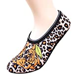 2 Pairs Flower and Leopard Print Socks Yoga Sock for Spring, Autumn, Winter