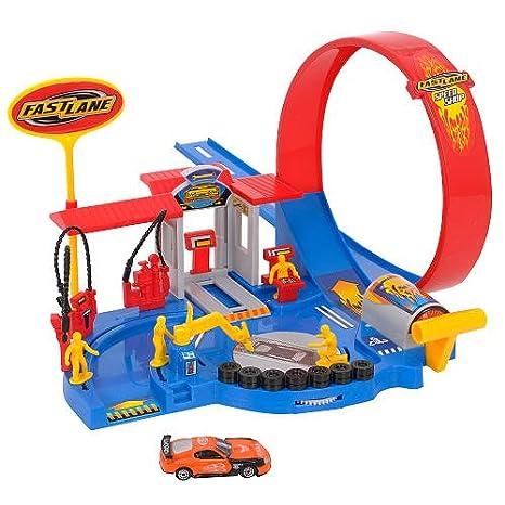 Amazon.com: Fastlane velocidad Shop Playset: Toys & Games