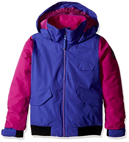 Burton Youth Girls Twist Bomber Jacket, Sorcerer/Grapeseed, - Bomber Burton