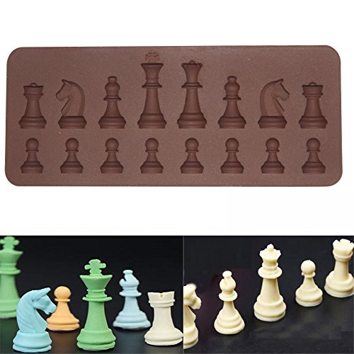 3D Silicone Cake Mold International Chess Shape Cake Decorating Mold For Candy Chocolate Fondant Cupcake Baking Tools (Candy Mold International)