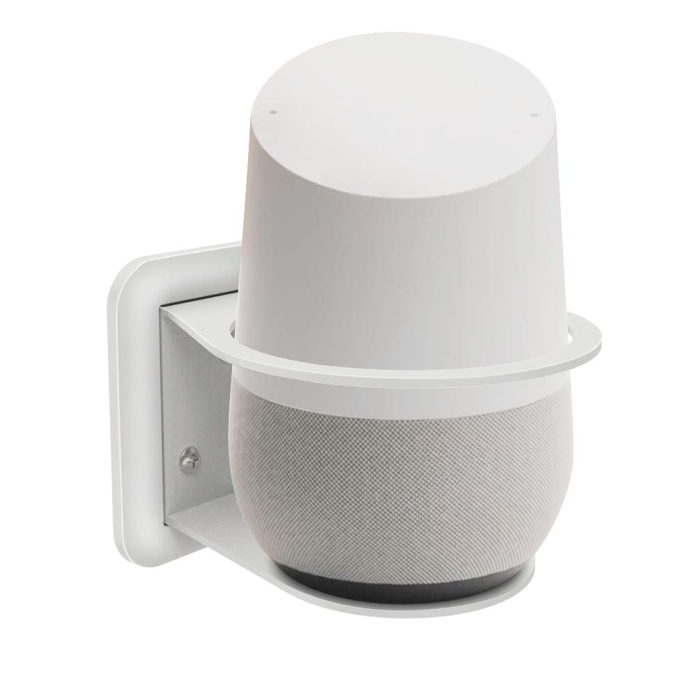 Gelink Supporto da Parete Wall Mount per Google Home, extra O-ring Compatibile con  Echo 2nd Generation, Gestione dei Cavi Integrata (Bianco)