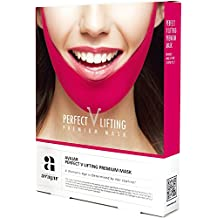 Avajar Perfect V Lifting Premium Anti-Celluite Mask for Facial firming treatment, Tight face & Neck line, - 5 Count