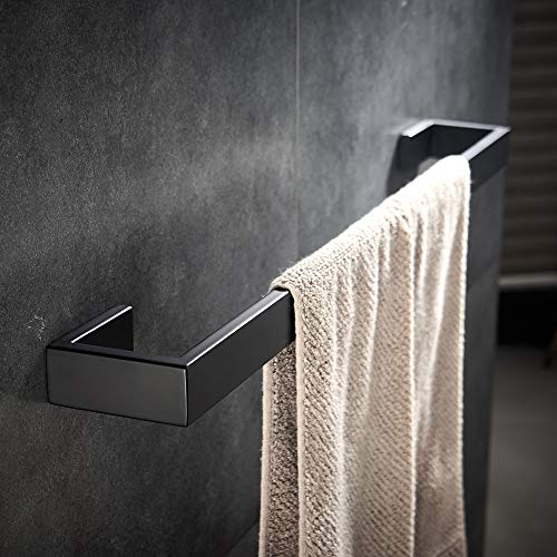 - YJ YANJUN Black Towel Bar Stainless Steel Towel Rail Contemporary Style Wall Mount for Bath Kitchen Matte Black
