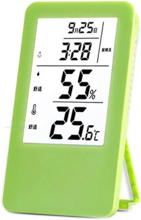 Higrometro Digital Termometro Higrometro Digital Relojes Jardin Hogar Termómetro Electrónico Syngenta Temperatura Y Humedad Medidor De Habitación Habitación Habitación Mesa: Amazon.es: Bebé