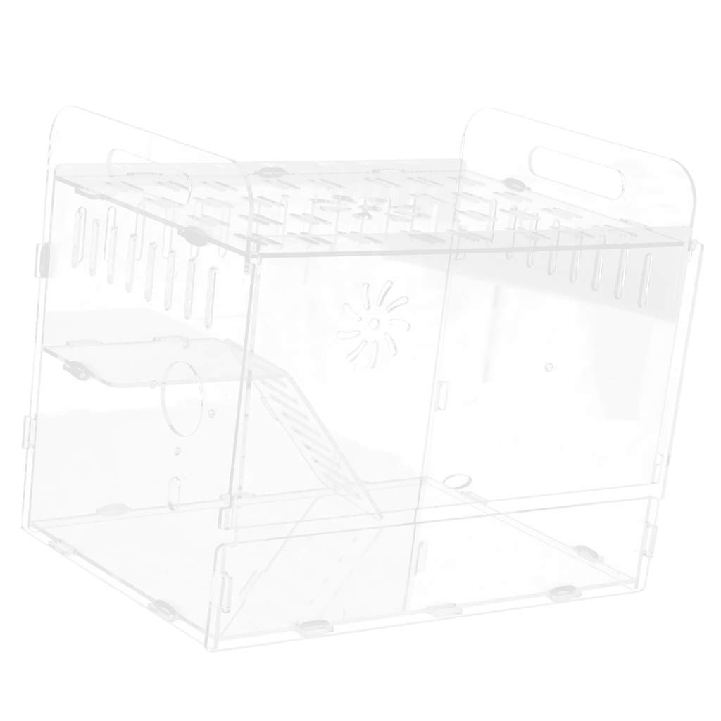 Baoblaze Transparent Villa Small Animal Nest Cage House Toy for Hamsters Gerbil Rat