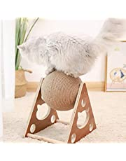 MTAPH Brinquedo de bola arranhador de gato, bola de brinquedo de garra de gato, brinquedo interativo para gatos com bola de desafio para moer garras e brincar