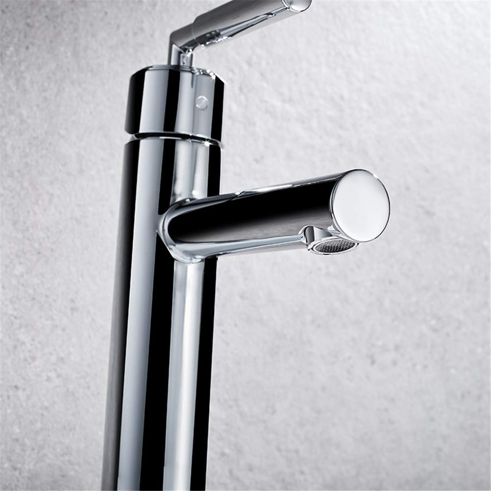 Stainless Steel Guolaoer Faucet Hot And Cold Single Handle Single Hole Wash Basin Basin Faucet   Stainless Steel