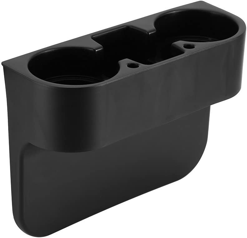 Yosoo Vehicle Drink Cup Holder,Truck Car Seat Wedge Cup Holder Valet Beverage Can Bottle Cell Phone Stand Storage Box Black