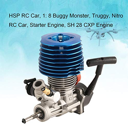 HSP RC Car 1: 8 Buggy Monster Truggy Nitro Engine SH 28 CXP Engine M28-P3 4.57CC 3.8hp 33000 rpm Side Exhaust Pull Starter (Best Nitro Engine For 1 8 Buggy)