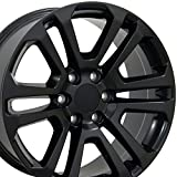 rims for a gmc sierra - 20x9 Wheel Fits GM Trucks & SUVs - GMC Sierra Style Satin Black Rim