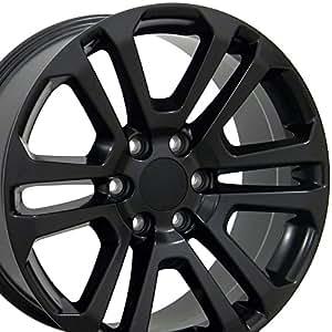 20x9 Wheel Fits GM Trucks & SUVs - GMC Sierra Style Satin Black Rim