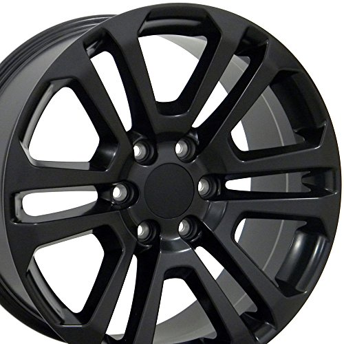 OE Wheels 20 Inch Fits Chevy Silverado Tahoe GMC Sierra Yukon Cadillac Escalade CV99 Satin Black 20x9 CK158 Rim Hollander 4741 SET