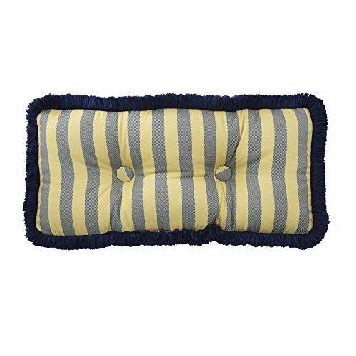 Waverly 14925012X026HTB Sanctuary Rose 12-Inch by 26-Inch Oblong Decorative Pillow, Heritage Blue [並行輸入品] B07RCVH2L8
