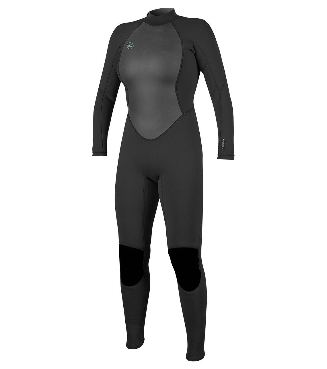 O'Neill Women's Reactor-2 3/2mm Back Zip Full Wetsuit, Black, 4