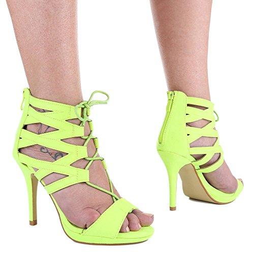 Ital-Design - Sandalias / Sandalias Mujer Amarillo - amarillo neón