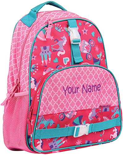 Personalized Stephen Joseph Princess All Over Print Backpack with Embroidered Name