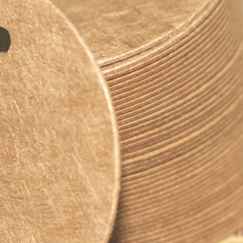 Brown Tag,Kraft Paper Gift Tag with 100 Feet Jute Twine Round Shaped 5.5 cm Blank Hang Tags for Craft Projects, Xmas Gifts