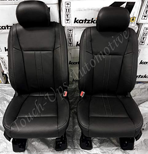 Katzkin Leather Seat Covers for 2019 Ford F-150 SuperCrew XLT Black Lariat Design ()