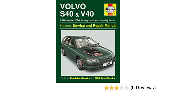volvo s40 and v40 service and repair manual haynes service and rh amazon com 2000 volvo s40 repair manual 2007 volvo s40 repair manual