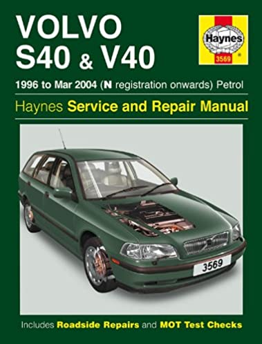 volvo s40 and v40 service and repair manual haynes service and rh amazon com 2003 volvo s40 owners manual 2003 volvo s40 owners manual