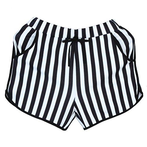 donna estate beautyjourney estivo Pantaloncini vita shorts corti estivi eleganti pigiama cotone da sportivi donna donna eleganti a donna corti Nero donna Pantaloncini larghi pantaloni TaBTR