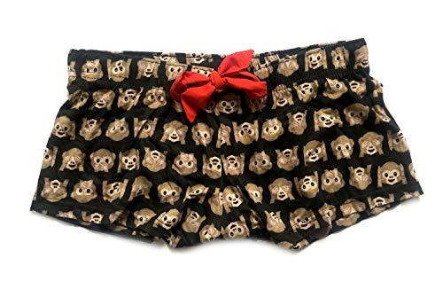 Emoji due Donna Shorts Pigiama Pattern 1 pezzi Monkey 1wqZzZ