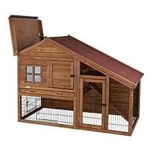 Trixie 62335 Rabbit Hutch with a View, Glazed Pine