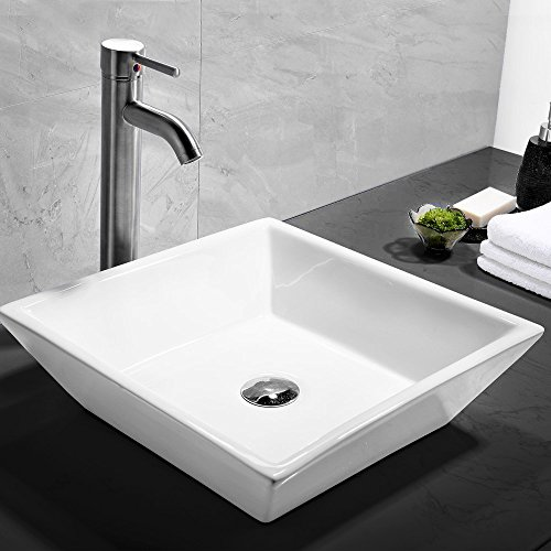 Comllen white porcelain ceramic vessel bathroom sink art - White porcelain bathroom fixtures ...