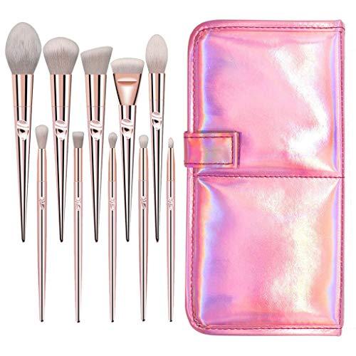 10pcs Makeup Brushes Set Foundation Powder Eyeshadow Blush Blending Brush Tool (Model - 10PCS Brush Bag) ()