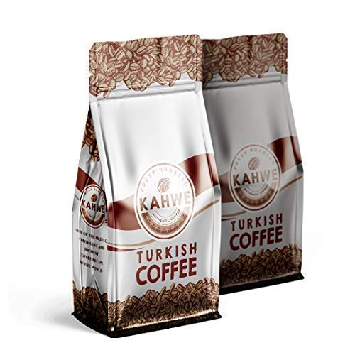 - Turkish Coffee - Fresh Roasted Daily in Florida - GROUND - 8 Ounce (227g) - Pack of 2